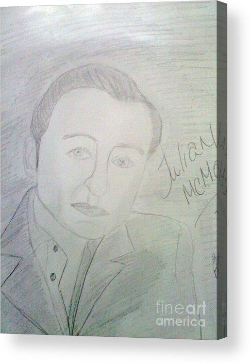 T.v. Star Acrylic Print featuring the drawing Actor Julian Mcmahon by Charita Padilla