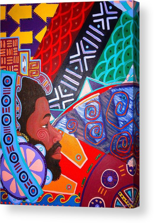 Malik Seneferu Acrylic Print featuring the painting Aesthetic Ascension1 by Malik Seneferu