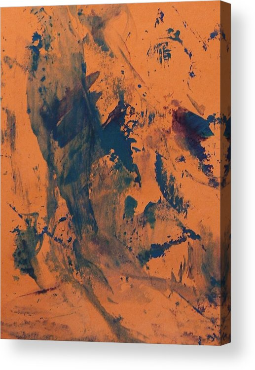Brown Acrylic Print featuring the painting After Torture Beating by Bruce Combs - REACH BEYOND