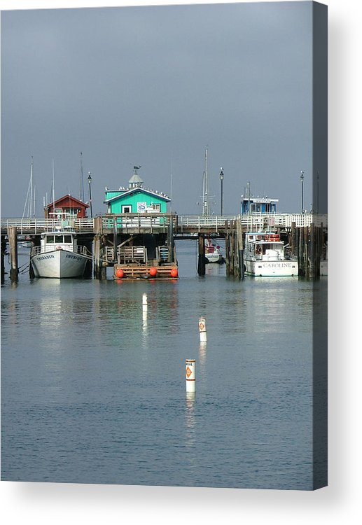 Sea Scapes Acrylic Print featuring the photograph Again In Monterey by Donna Thomas