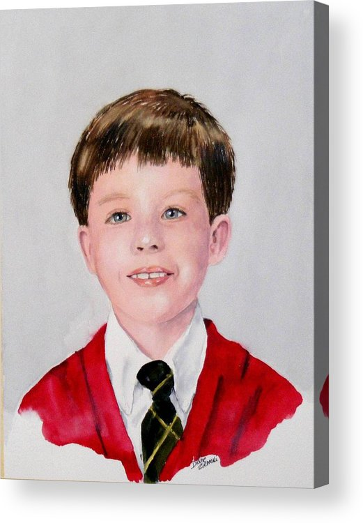 Acrylic Print featuring the painting Aidan - Commissioned Portrait by Diane Ziemski