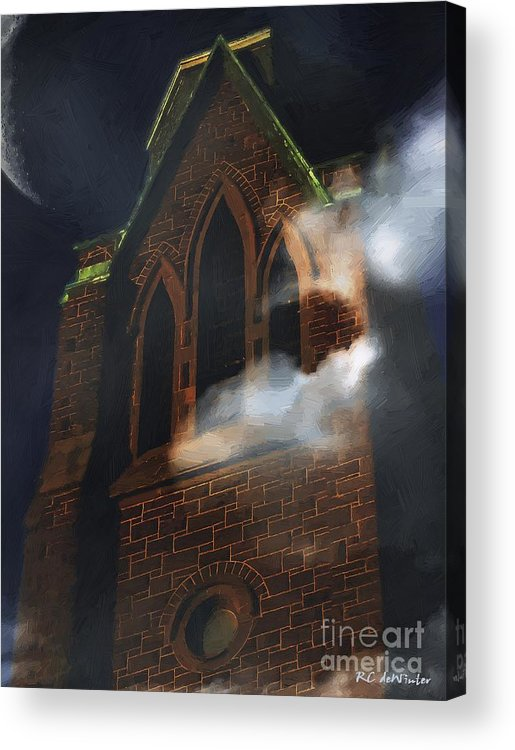 Church Acrylic Print featuring the painting All Hallows by RC DeWinter