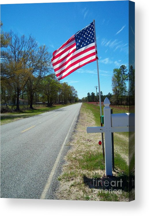American Flag Acrylic Print featuring the photograph American Pride by Southern Photo