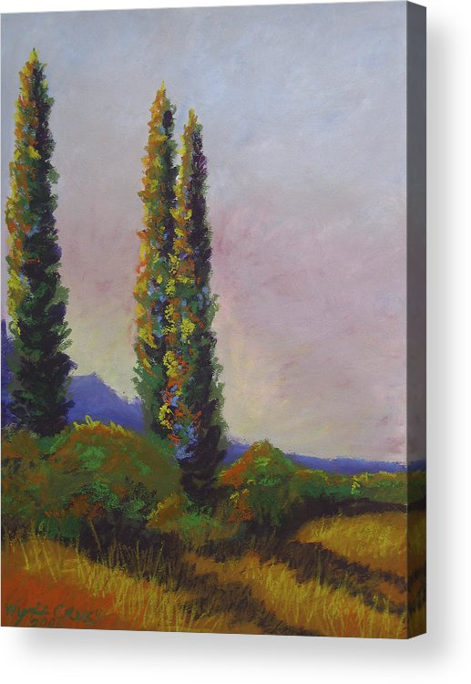 Sky Acrylic Print featuring the painting An Afternoons Vision by Wynn Creasy