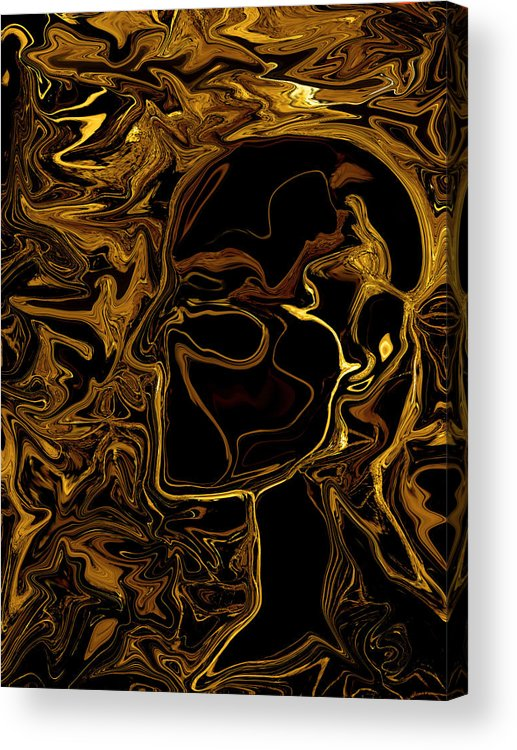 Anatomical Acrylic Print featuring the painting Anatomy by Jeff DOttavio