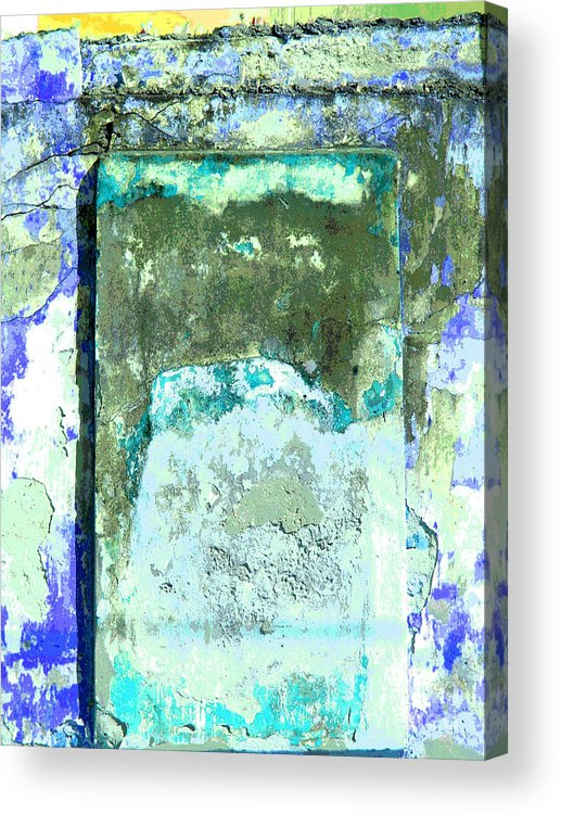 Michael Fitzpatrick Acrylic Print featuring the photograph Ancient Wall 2 By Michael Fitzpatrick by Mexicolors Art Photography