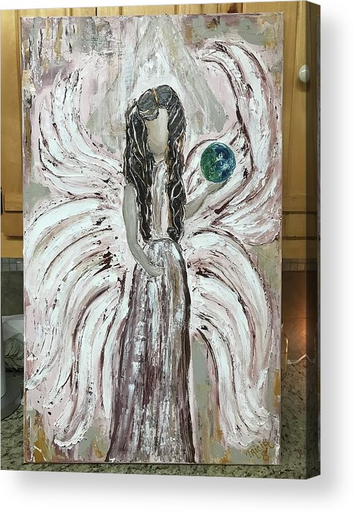 Angel Acrylic Print featuring the painting Angel Stella by Tricia Concienne