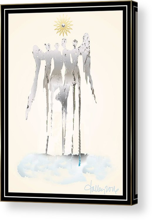Acrylic Print featuring the painting Angels Series - Angelika by Larry Talley