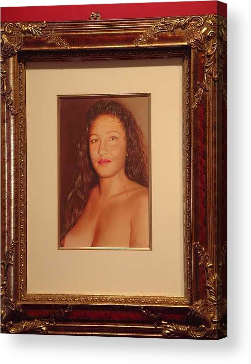 Nudes Acrylic Print featuring the painting Annie 10-2 by Benito Alonso