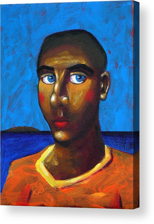 Arsonist Acrylic Print featuring the painting Arsonist by Dimitris Milionis