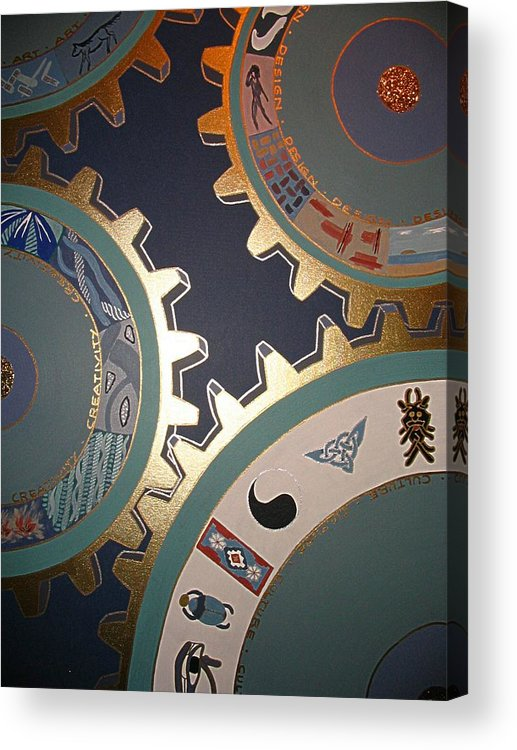 Technology Acrylic Print featuring the painting As Long As The World Goes On by Ingrid Stiehler
