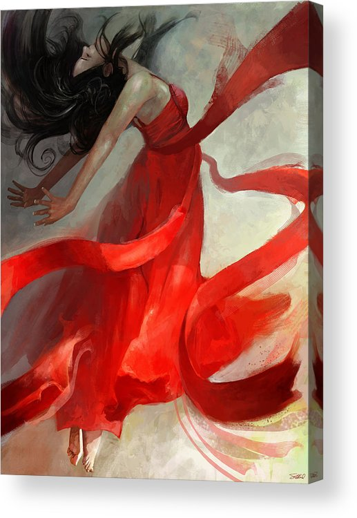 Dancer Acrylic Print featuring the painting Ascension by Steve Goad