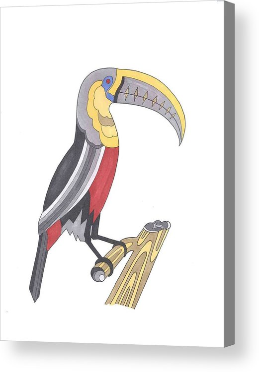Toucan Acrylic Print featuring the mixed media Assignment 13 by David Seter