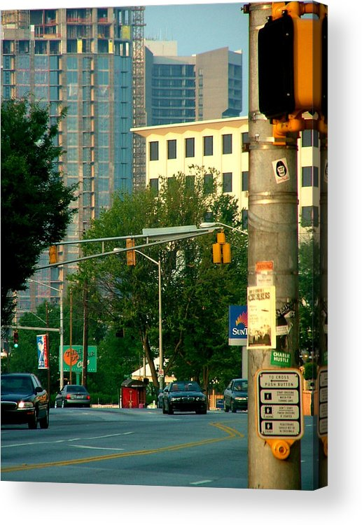 Streetscape Acrylic Print featuring the photograph Atlanta Street Scape by Donna Thomas