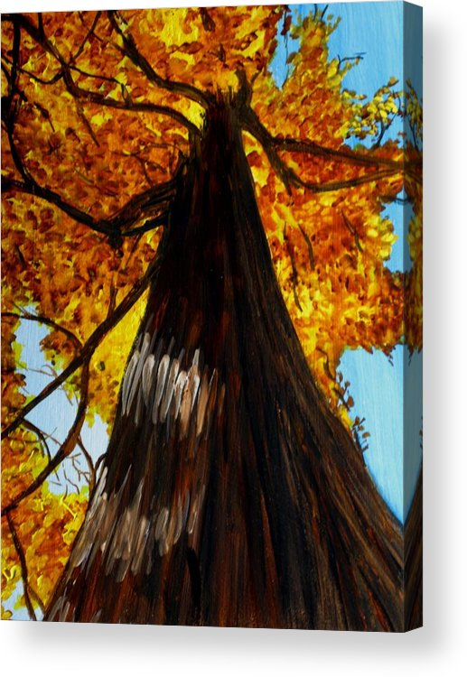 Landscapes Acrylic Print featuring the painting Autumn Majesty by Liz Borkhuis