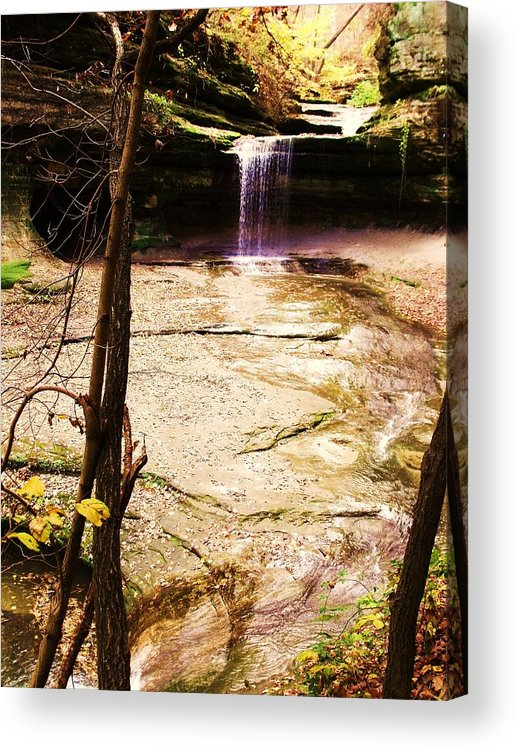 Waterfall Acrylic Print featuring the photograph Autumn Waterfall II by Anna Villarreal Garbis