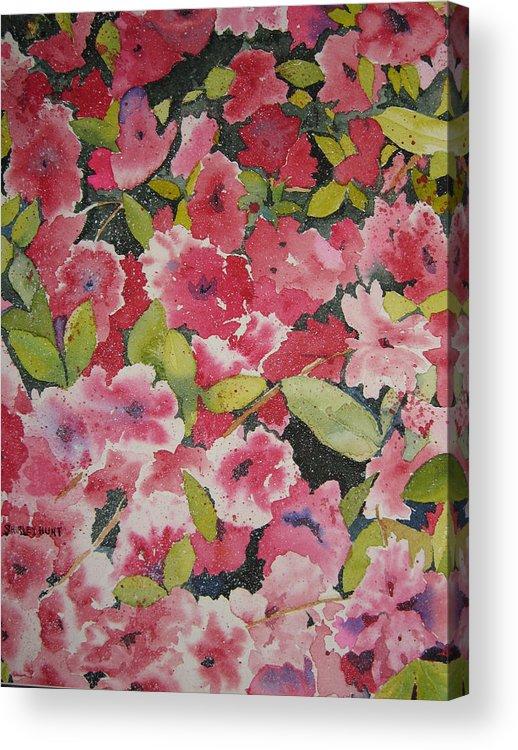 Botanical Acrylic Print featuring the painting Azalea Medley by Shirley Braithwaite Hunt