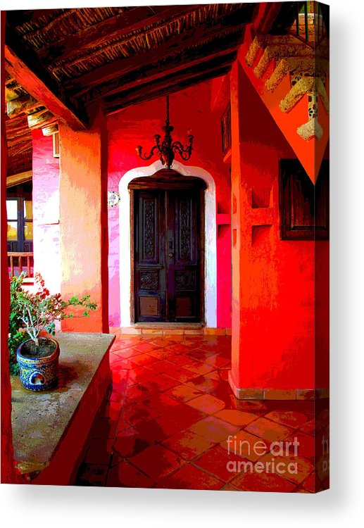 Darian Day Acrylic Print featuring the photograph Back Passage By Darian Day by Mexicolors Art Photography