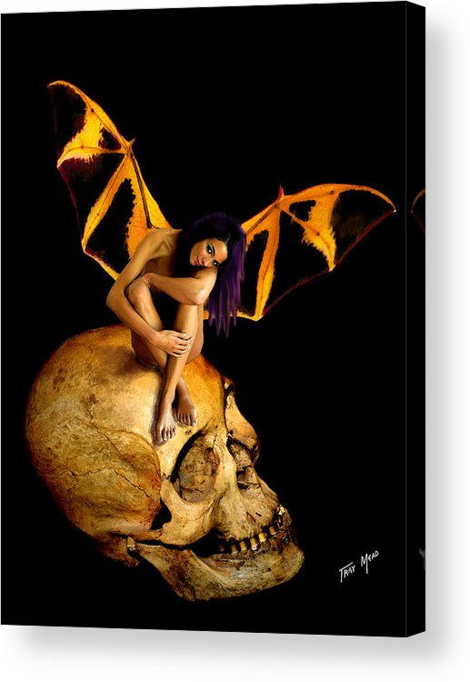 Bad Acrylic Print featuring the painting Bad Fairy by Tray Mead