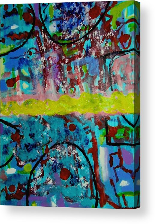 Abstracts Acrylic Print featuring the painting Band Of Gold by Rusty Gladdish