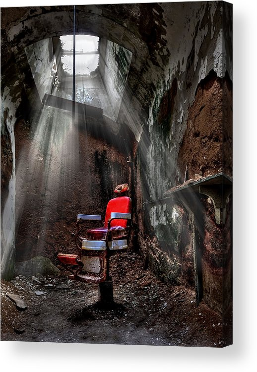 Abandoned Acrylic Print featuring the photograph Barber Shop by Evelina Kremsdorf