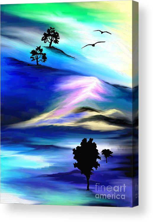 Psychedelic Acrylic Print featuring the painting Barren by Jo Baby