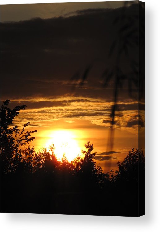 Sunset Acrylic Print featuring the photograph Beautiful End Of Day by Johanne Hammond