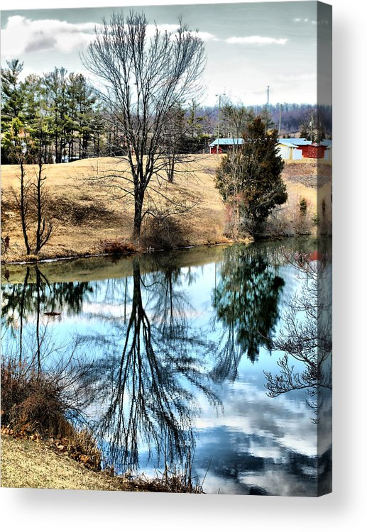 Pond Acrylic Print featuring the photograph Beautiful Reflection 2 by Kathy Jennings
