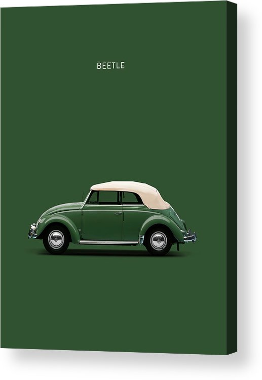Vw Beetle Acrylic Print featuring the photograph Beetle 53 by Mark Rogan