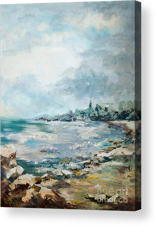 Seascape Acrylic Print featuring the painting Before The Storm by Elisabeta Hermann