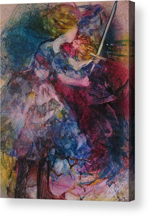 Woman Acrylic Print featuring the painting Believe And Decree by Deborah Nell