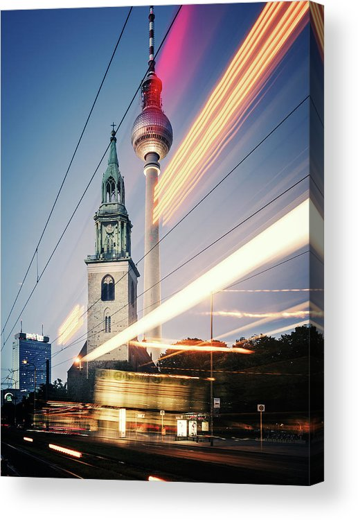 Berlin Acrylic Print featuring the photograph Berlin - Karl-liebknecht-strasse by Alexander Voss