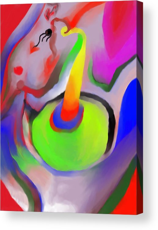 Colorful Acrylic Print featuring the digital art Birthday Surprise by Peter Shor