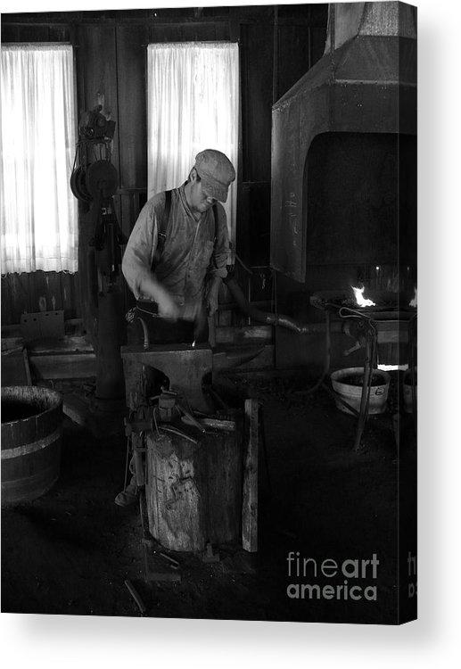 Blacksmith Acrylic Print featuring the photograph Blacksmith by Mark Grayden