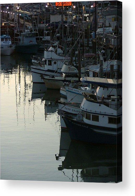 Boats Acrylic Print featuring the photograph Blind Faith by Donna Thomas