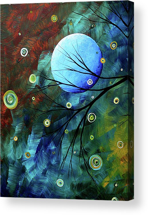Art Acrylic Print featuring the painting Blue Sapphire 1 By Madart by Megan Duncanson
