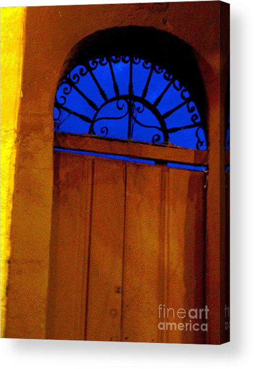 Michael Fitzpatrick Acrylic Print featuring the photograph Blue Twilight By Michael Fitzpatrick by Mexicolors Art Photography