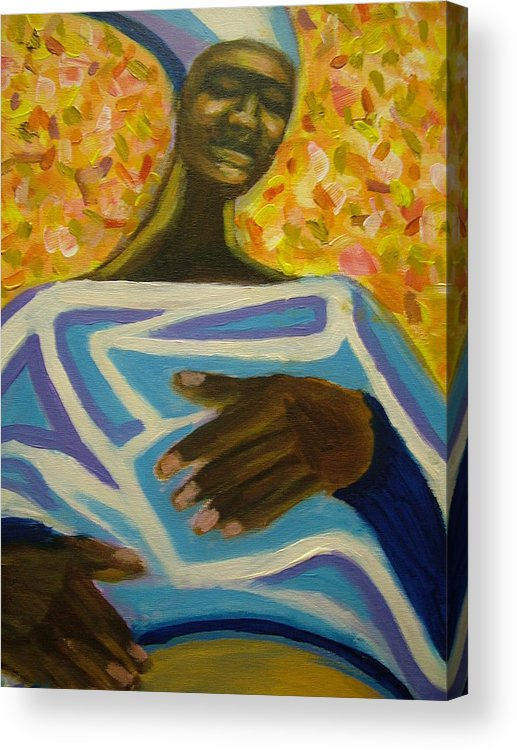 Painting Acrylic Print featuring the painting Bongo Man II by Jan Gilmore