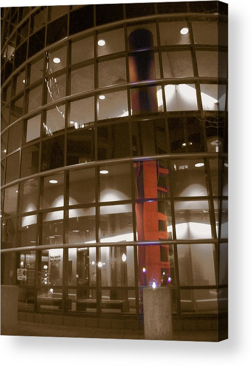 Boston Medical Center Acrylic Print featuring the photograph Boston Medical Exterior by Heather Weikel