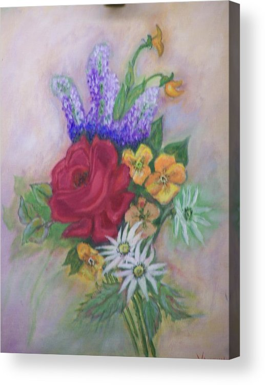 Still Life Acrylic Print featuring the painting Bouquet by Charles Vaughn