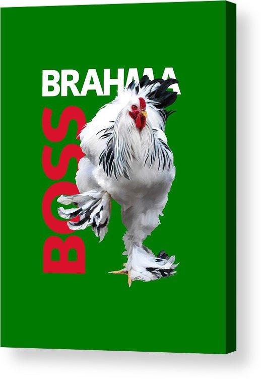Brahma Acrylic Print featuring the digital art Brahma Boss T-shirt Print by Sigrid Van Dort