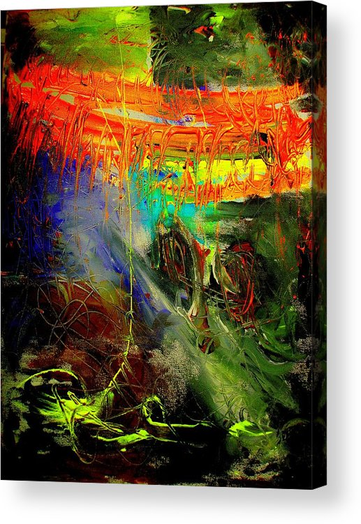 Abstract Prinst Acrylic Print featuring the painting Bridge To Heaven by Teo Santa