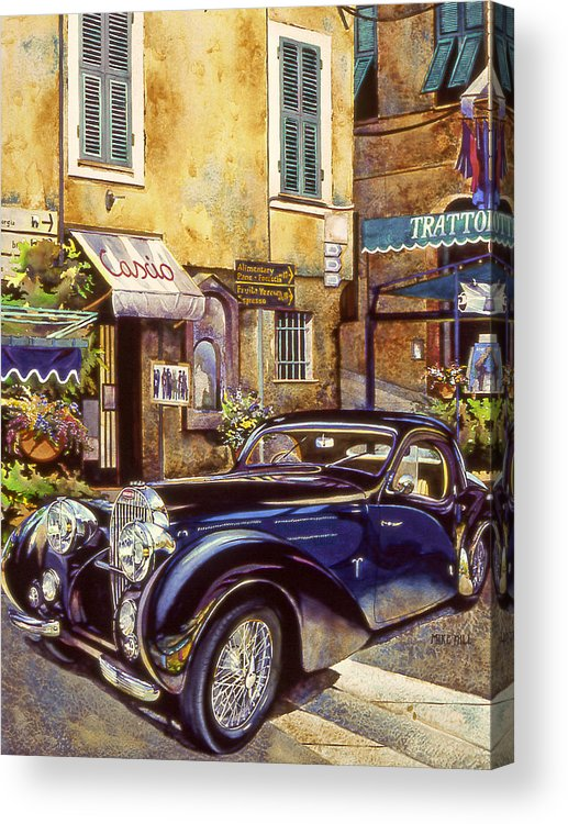 Bugatti 1939 Concours D Acrylic Print featuring the painting Bugatti by Mike Hill