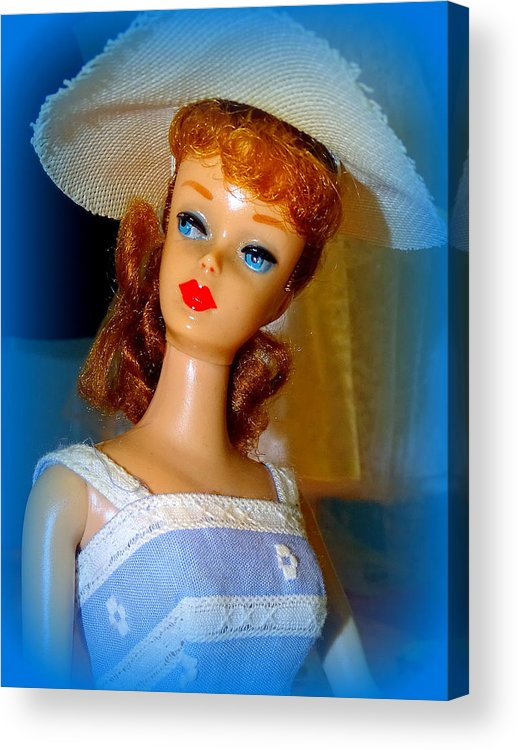 Mannequins Acrylic Print featuring the photograph Burlap Babe by Ed Weidman