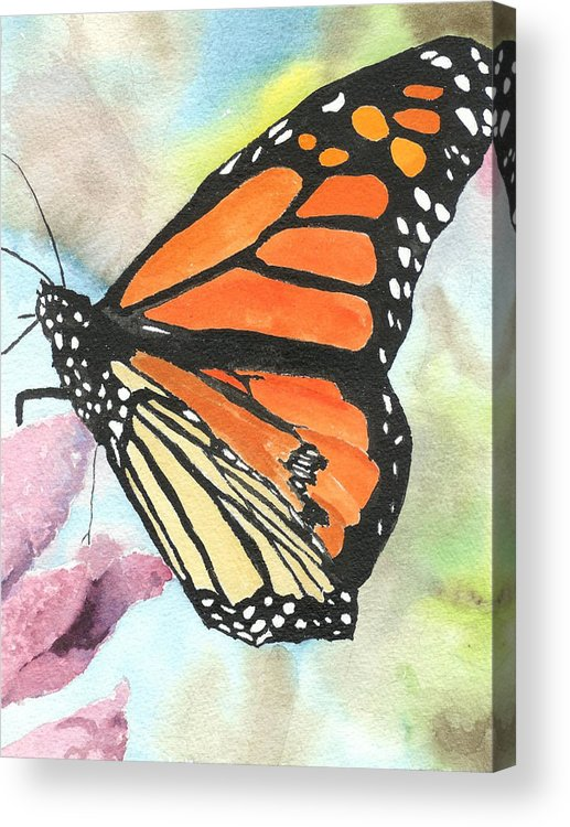 Floral Acrylic Print featuring the painting Butterfly by Robert Thomaston