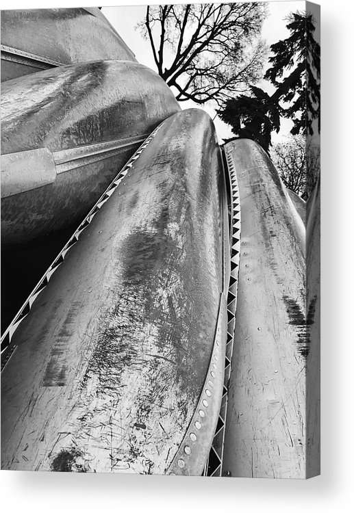 Lakes Acrylic Print featuring the photograph Canoes by Julian Grant