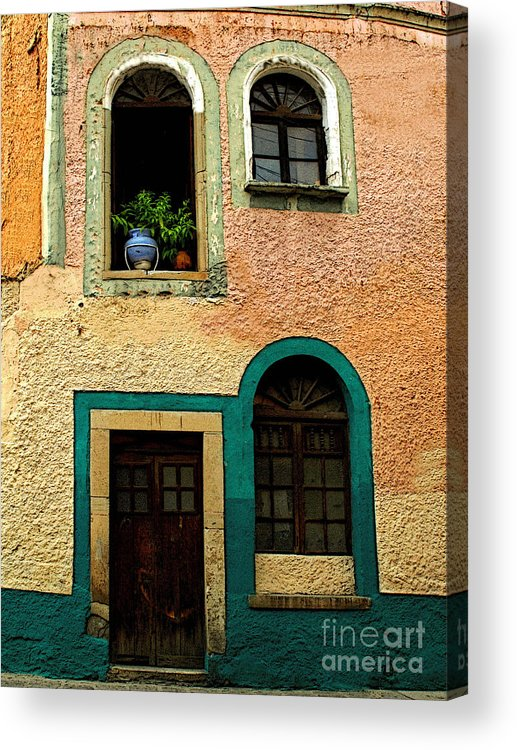 Darian Day Acrylic Print featuring the photograph Casa With Sea Green by Mexicolors Art Photography