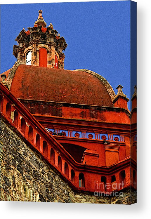 Darian Day Acrylic Print featuring the photograph Cathedral Dome With Blue by Mexicolors Art Photography