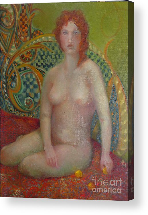 Contemporary Figure Acrylic Print featuring the painting Celtic Woman Copyrighted by Kathleen Hoekstra