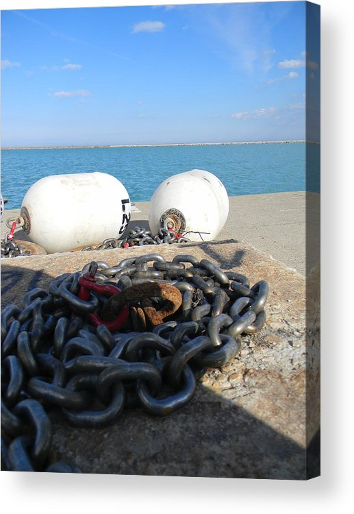 Chains Acrylic Print featuring the photograph Chan by Adam Hernandez